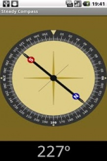 Steady compass, free Android app
